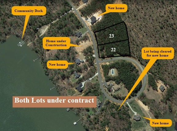 Building Lots wiith Deeded Boat slips aerial